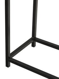 Consolle con ripiano Fushion, Struttura: metallo verniciato a polv, Ripiano: pannello di fibra a media, Nero, Larg. 122 x Prof. 30 cm
