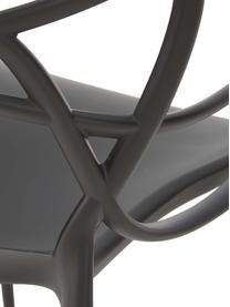 Stapelbare Armlehnstühle Masters, 2 Stück, Polypropylen, Schwarz, B 57 x T 47 cm