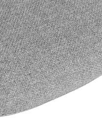 Sedia con gambe in metallo e braccioli Fiji, Rivestimento: poliestere Con 40.000 cic, Gambe: metallo verniciato a polv, Seduta: grigio chiaro Gambe: nero, opaco, Larg. 58 x Prof. 56 cm