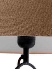 Große Tischlampe Face Nature, Gestell: Stahl, pulverbeschichtet, Lampenfuß: Stahl, pulverbeschichtet, Beige, Schwarz, 35 x 69 cm