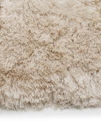 Tappeto lucido a pelo lungo Jimmy, Retro: 100% cotone, Avorio, Larg. 300 x Lung. 400 cm (taglia XL)