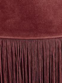 Fransen-Hocker Adriana, Bezug: Baumwollsamt, Fransen: Viskose, Unterseite: Baumwolle, Terrakotta, Ø 40 x H 40 cm
