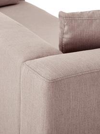 Ecksofa Carrie in Altrosa mit Metall-Füßen, Bezug: Polyester 50.000 Scheuert, Gestell: Spanholz, Hartfaserplatte, Füße: Metall, lackiert, Webstoff Altrosa, B 222 x T 180 cm
