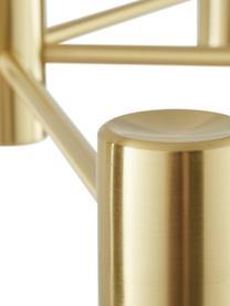 Lampada a sospensione in metallo Sia, Paralume: Metallo verniciato a polv, Paralume: bianco opaco baldacchino e portalampada: ottone spazzolato, Ø 75 x Alt. 14 cm