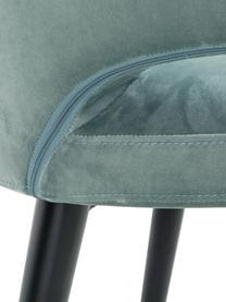 Fluwelen armstoel Celia in modern design, Bekleding: fluweel (polyester), Poten: gepoedercoat metaal, Fluweel saliekleurig, B 57 x D 62 cm