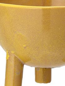 Portavaso in gres fatto a mano Aaren, Gres, Giallo, Ø 15 x Alt. 12 cm