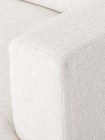 Divano 3 posti in tessuto beige Tribeca, Rivestimento: poliestere Il rivestiment, Struttura: legno di pino massiccio, Piedini: legno massiccio di faggio, Tessuto beige, Larg. 228 x Prof. 104 cm