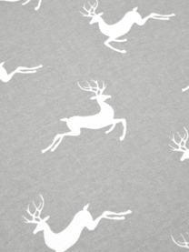 Flanell-Bettwäsche Rudolph mit Rentieren, Webart: Flanell Flanell ist ein k, Grau, Ecru, 135 x 200 cm + 1 Kissen 80 x 80 cm