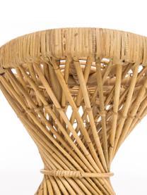 Tavolino boho in rattan Marvel, Rattan, finitura naturale, Marrone, Ø 40 x Alt. 47 cm