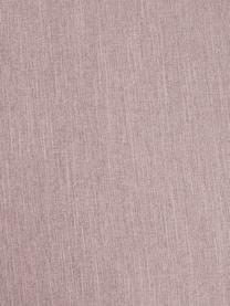 Sofa narożna Melva (3-osobowa), Tapicerka: 100% poliester Dzięki tka, Stelaż: lite drewno sosnowe, cert, Nogi: tworzywo sztuczne, Blady różowy, S 239 x G 143 cm