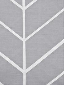 Baumwoll-Bettwäsche Mirja mit grafischem Muster, Webart: Renforcé Fadendichte 144 , Grau, Cremeweiss, 135 x 200 cm + 1 Kissen 80 x 80 cm