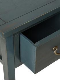 Console avec 3 tiroirs Leonie, Bleu pétrole, ardoise