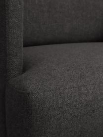 Fauteuil moderne gris foncé Fluente, Tissu gris foncé