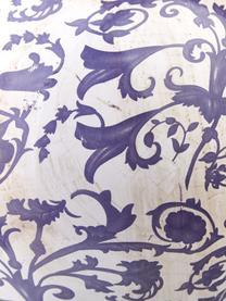 Duża ścienna osłonka na doniczkę Cerino, Ceramika, Lila, biały, S 28 x W 18 cm