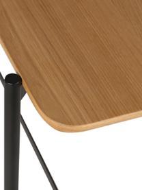 Konsole Easy aus Holz und Metall, Ablagefläche: Mitteldichte Holzfaserpla, Beine: Metall, beschichtet, Schwarz, Braun, 120 x 76 cm