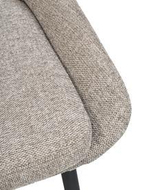 Sedia imbottita in tessuto beige Sierra 2 pz, Rivestimento: 100% poliestere, Gambe: metallo verniciato a polv, Tessuto beige, Larg. 49 x Prof. 55 cm