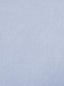 Gewaschene Leinen-Bettwäsche Nature in Hellblau, Halbleinen (52% Leinen, 48% Baumwolle)  Fadendichte 108 TC, Standard Qualität  Halbleinen hat von Natur aus einen kernigen Griff und einen natürlichen Knitterlook, der durch den Stonewash-Effekt verstärkt wird. Es absorbiert bis zu 35% Luftfeuchtigkeit, trocknet sehr schnell und wirkt in Sommernächten angenehm kühlend. Die hohe Reißfestigkeit macht Halbleinen scheuerfest und strapazierfähig., Hellblau, 240 x 220 cm + 2 Kissen 80 x 80 cm