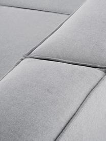 Divano angolare componibile in tessuto grigio chiaro Lennon, Rivestimento: poliestere 35.000 cicli d, Struttura: legno di pino massiccio, , Piedini: materiale sintetico, Tessuto grigio chiaro, Larg. 326 x Prof. 207 cm