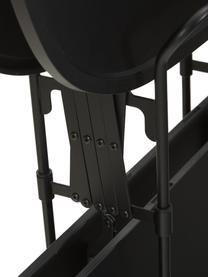 Metall-Servierwagen Gastone, klappbar, Gestell: Metall, lackiert, Schwarz, 68 x 70 cm