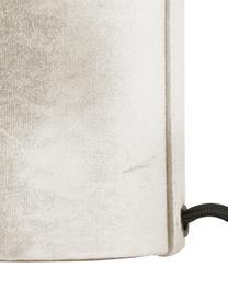 Fluwelen tafellamp Frida, Lampvoet: kunststof met fluwelen be, Lampenkap: fluweel, Diffuser: fluweel, Beige, Ø 30 x H 36 cm