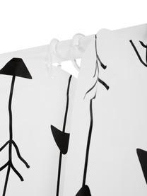 Vzorovaný sprchový závěs Katie, Bílá, černá