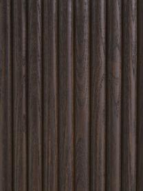 Tavolino contenitore da salotto Nele, Pannello di fibra a media densità (MDF) con finitura in legno di frassino, Marrone, Ø 70 x Alt. 36 cm