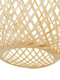 Hanglamp Jess, Lampenkap: bamboehout, Lampenkap: bamboehoutkleurig. Baldakijn en lampframe: mat wit. Snoer: wit, Ø 23 x H 43 cm