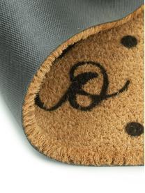 Fußmatte Oh Hello, Oberseite: Kokosfaser, Unterseite: PVC, Beige, Schwarz, 40 x 60 cm