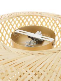 Design Deckenleuchte Evelyn aus Bambus, Lampenschirm: Bambus, Baldachin: Metall, pulverbeschichtet, Lampenschirm: BambusBaldachin und Befestigung: Beige, matt, Ø 50 x H 20 cm