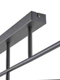 Große Deckenleuchte Joni, Baldachin: Metall, pulverbeschichtet, Schwarz, 104 x 36 cm