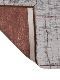 Tappeto Griff, Tessuto: Jacquard, Retro: Miscela di cotone, rivest, Fronte: grigio, rame, bianco latte, Larg. 140 x Lung. 200 cm (taglia S)