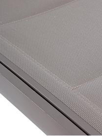 Ligstoel Cleo in grijs, Frame: gepoedercoat aluminium, Wieltjes: kunststof, Taupe, grijs, B 192 x D 61 cm