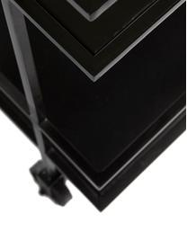 Wózek barowy Lunavale, Metal powlekany, Czarny, S 74 x W 85 cm