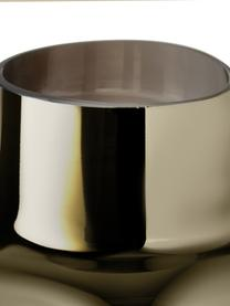 Mundgeblasene Glasvase Uma, Glas, Transparent,Gold, Ø 16 x H 27 cm