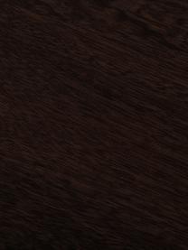 Komoda z litego drewna mangowego w jodełkę Luca, Korpus: lite drewno mangowe, Stelaż: metal powlekany, Korpus: ciemny brązowy Stelaż: odcienie mosiądzu, matowy, S 160 x W 70 cm