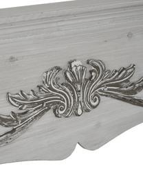 Kaminkonsole Menton im Landhausstil, Mitteldichte Holzfaserplatte und Blauglockenbaumholz, lackiert, Grau, B 105 x T 18 cm