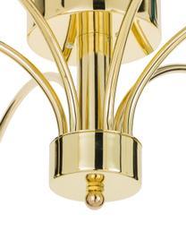 Plafoniera dorata Grace, Baldacchino: ottone verniciato, Dorato, Ø 56 x Alt. 26 cm