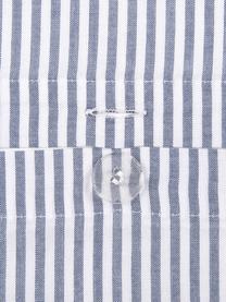 Parure copripiumino in cotone ranforce Ellie, Bianco, blu scuro, 155 x 200 cm