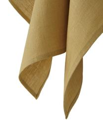 Strofinaccio in lino giallo Heddie, 100% lino, Giallo, Larg. 50 x Lung. 70 cm