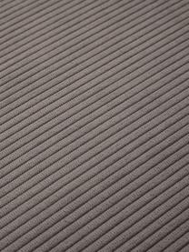 Chaise-longue componibile in velluto a coste marrone Lennon, Rivestimento: velluto a coste (92% poli, Struttura: legno di pino massiccio, , Piedini: plastica I piedini si tro, Velluto a coste marrone, Larg. 269 x Prof. 119 cm