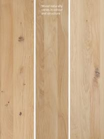 Ławka z drewna dębowego Oliver, Nogi: metal malowany proszkowo, Dzikie drewno dębowe, biały, S 180 x W 45 cm