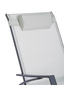 Schommelstoel Demid met verstelbare hoofdsteun, Frame: gefosfateerd en gepoederc, Bekleding: Textilene, Antraciet, B 95 x D 61 cm