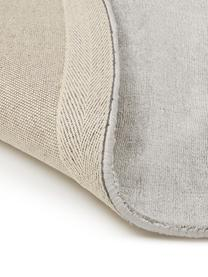 Okrągły ręcznie tkany dywan z wiskozy Jane, Jasny szarobeżowy, Ø 150 cm (Rozmiar M)