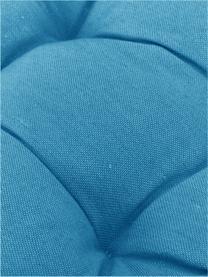 Einfarbiges Sitzkissen Panama in Türkis, Bezug: 50% Baumwolle, 45% Polyes, Türkis, 45 x 45 cm