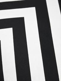 Kissenhülle Lena mit Zickzackmuster in Schwarz/Weiss, 100% Baumwolle, Panamabindung, Schwarz, Creme, 40 x 40 cm