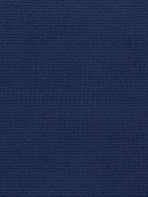 Pled z piki Sara, 50% bawełna, 50% akryl, Ciemnyniebieski, S 140 x D 180 cm
