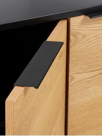 Komoda z drzwiczkami Stellar, Korpus: płyta pilśniowa średniej , Czarny, drewno dębowe, S 165 x W 80 cm
