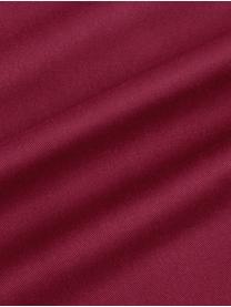 Housse de coussin rectangulaire coton rouge Mads, Rouge