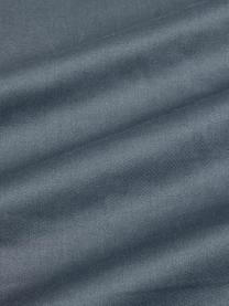 Set lenzuola in raso di cotone blu scuro Flora, Fronte: multicolore, 240 x 300 cm + 2 federe 50 x 80 cm
