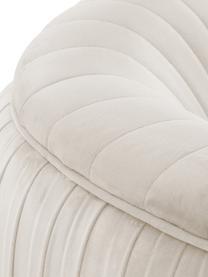 Samt-Cocktailsessel Cara in Beige, Bezug: Samt (Polyester) Der hoch, Gestell: Massives Birkenholz, Span, Füße: Metall, beschichtet, Samt Beige, B 81 x T 78 cm